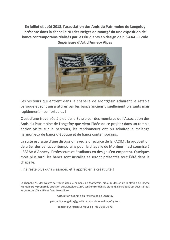 communiqué expo bancs Montgésin