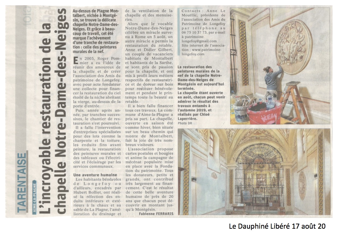 article Dauphiné 17 août 20 - copie
